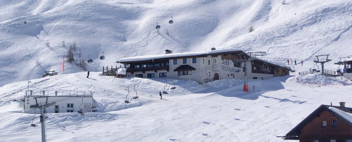 Blick vom Hotel Alpenfriede auf den Sonnblick