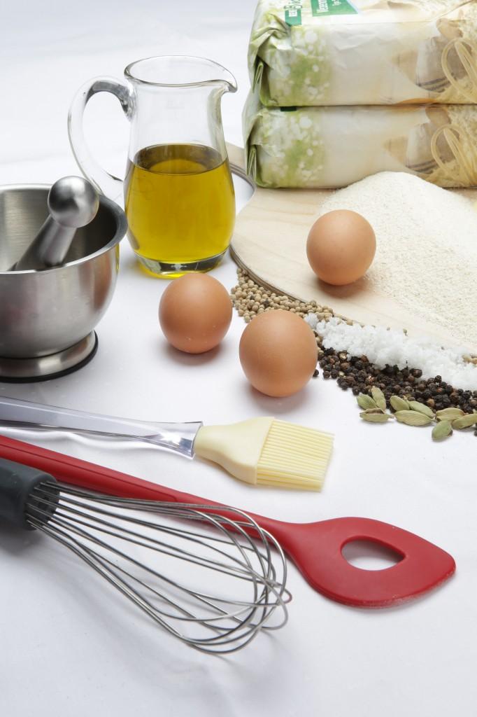 Eier, Mehl und Butter