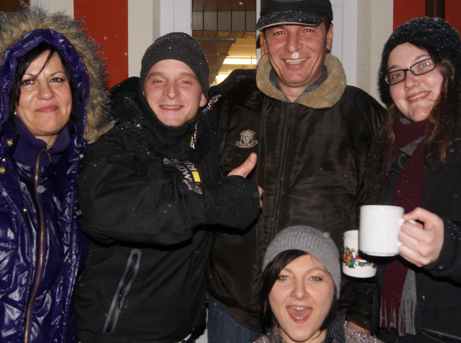 Das Team vom Hotel Alpenfriede feiert Weihnachten