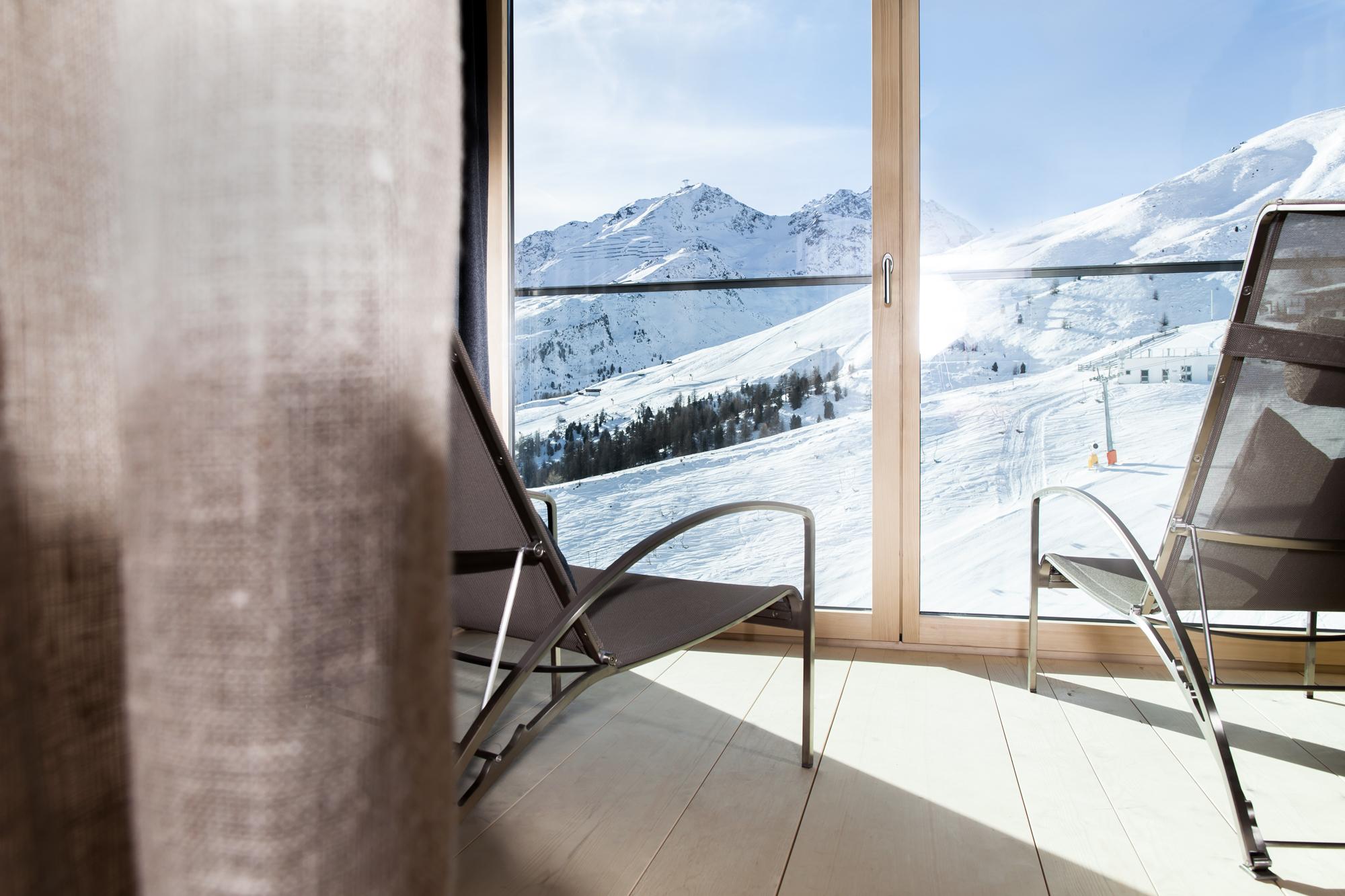 Sonnenuntergang im Hotel Alpenfriede