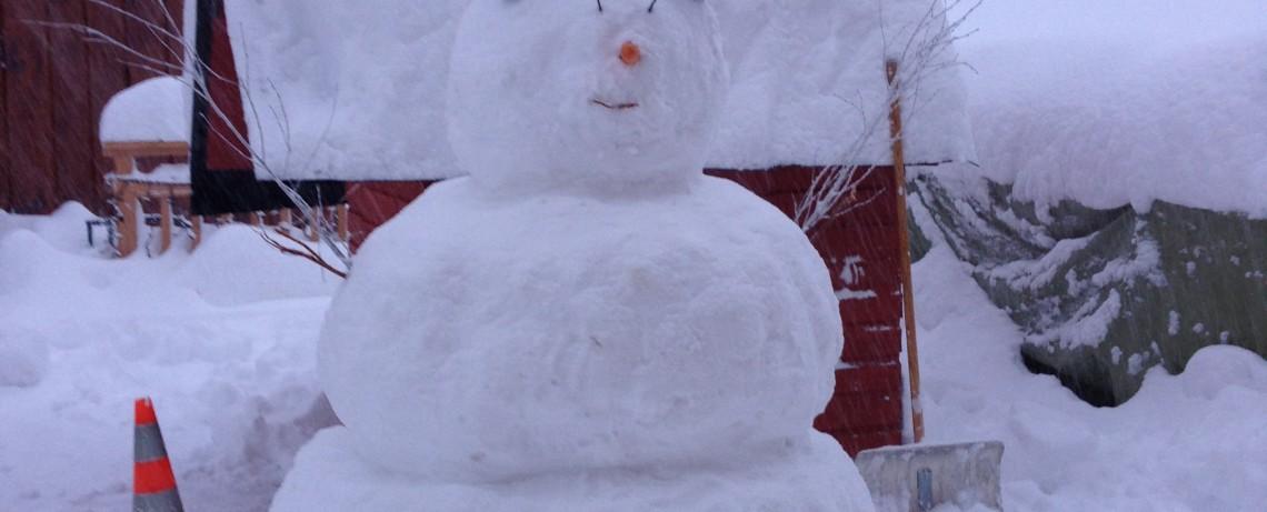 Der Schneemann vom Hotel Alpenfriede