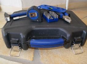 Ein Werkzeugkoffer zum Vatertag