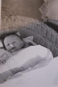 Gustl als Baby