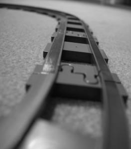 Gleise für Zug