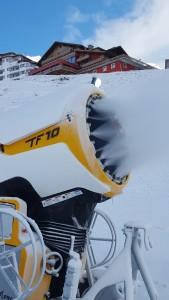 Schneekanone in Hochsölden im Skigebiet