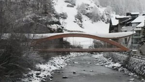 Brücke mit Dach