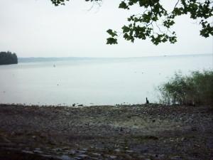 Ausblick von Land auf den Bodensee
