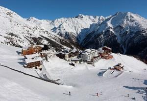 Mitten im Skigebiet Sölden