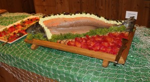 Fisch auf dem Buffet