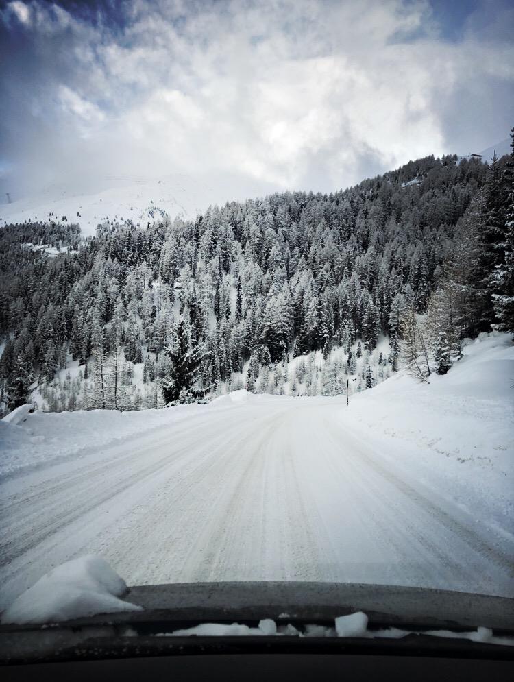 Hochsöldenstraße im Winter